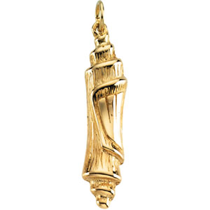 14K Yellow Gold Mezuzah