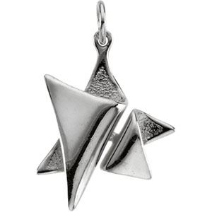 14K White Gold Star Of David