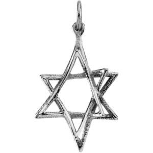 14K White Gold Star Of David