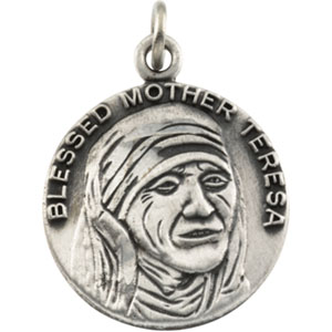 14K Yellow Gold Mother Teresa Pendant