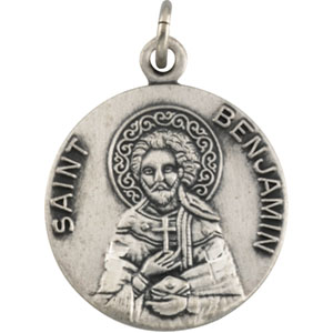 14K Yellow Gold St. Benjamin Pendant