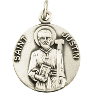 14K Yellow Gold St. Justin Pendant
