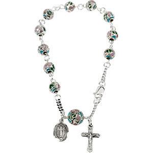 Smooth Cloisonne Rosary Bracelet