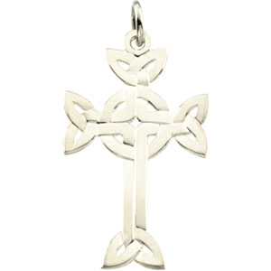 Sterling Silver Celtic Design Cross with Chain