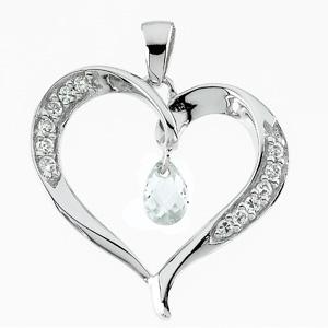 Sterling Silver Compassionate Heart Pendant