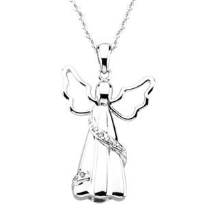 Sterling Silver Angel Ash Holder Pendant