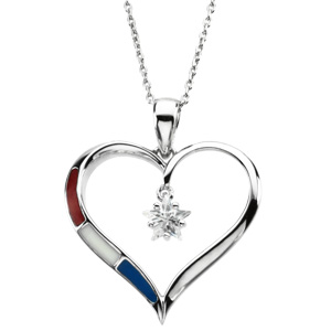 Sterling Silver Heart Of Honor Pendant