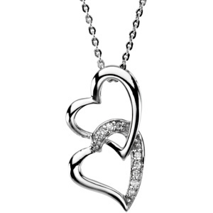 Sterling Silver Sister By Heart Pendant