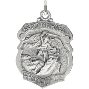 Sterling Silver St. Michael Pendant with Out Chain