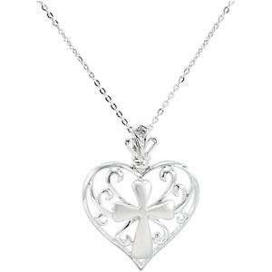 Sterling Silver The Worth Of A Woman Pendant & Ch