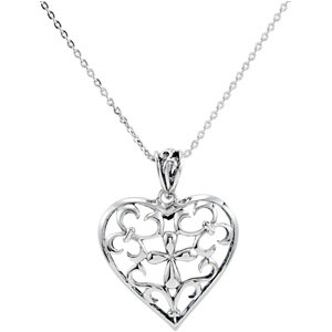 Sterling Silver The Worth Of A Mother Pendant & Ch