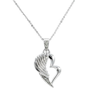 Sterling Silver The Broken Wing Pendant & Ch with Pkg