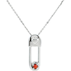 Sterling Silver Safe In My Love Pendant & Ch with Pkg