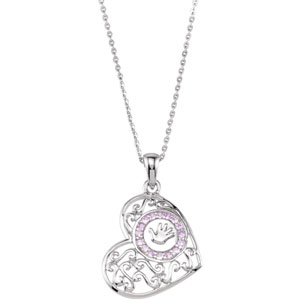 "Sterling Silver Hndpr(Girl)Pendant with 18""Chain&Pkg"