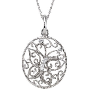Sterling Silver Journey Of Contentment Pendant with with Chain