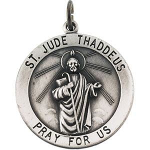Sterling Silver St. Jude Thaddeus Pendant with Chain