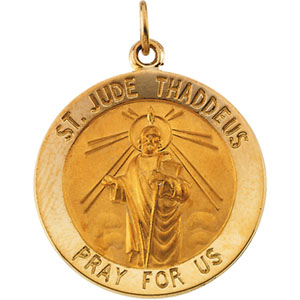 14K Yellow Gold St. Jude Thaddeus Pendant