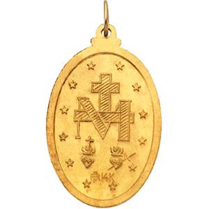 18K Yellow Miraculous Medal