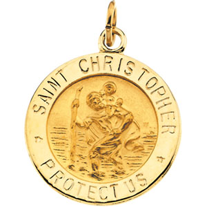 14k yellow gold st christopher medal at catholic shop 14k yellow gold st christopher pendant aloadofball Choice Image