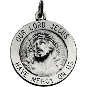 Sterling Silver Rd. Lord Jesus Pendant Pendant with Chain