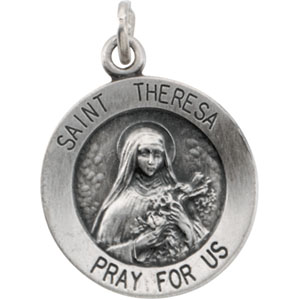 Sterling Silver St. Theresa Pendant with Chain