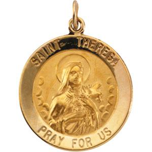 14K Yellow Gold St. Theresa Pendant