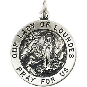 14K Yellow Gold Our Lady Of Lourdes Pendant