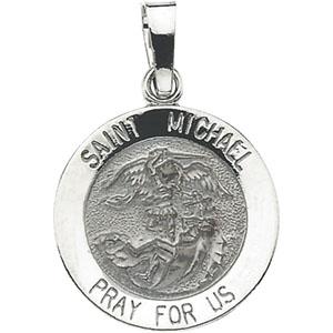 14k white gold stmichael medal at catholic shop 14k white gold stmichael pendant aloadofball Images