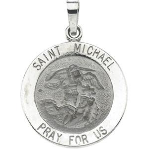 14k white gold stmichael medal at catholic shop 14k white gold stmichael pendant aloadofball Gallery