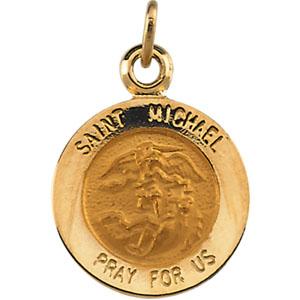 14K Yellow Gold St.Michael Pendant