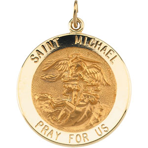 14K Yellow Gold St.Michael Pendant