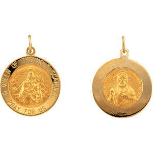 14K Yellow Gold Scapular Pendant