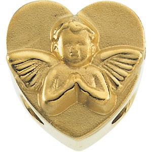 14K White Gold Heart Shaped Bracelet Slide