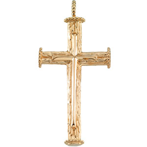 18K Yellow Cross Pendant