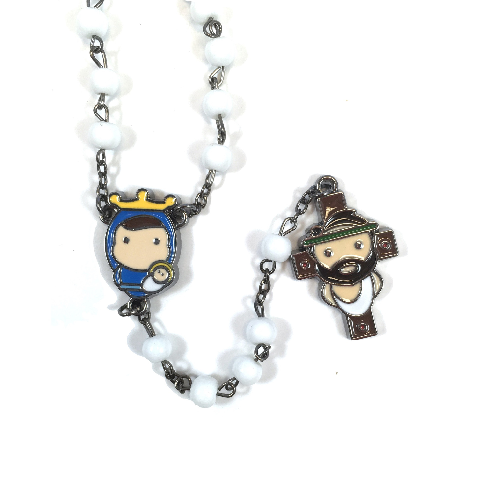 Tiny Saints White Rosary