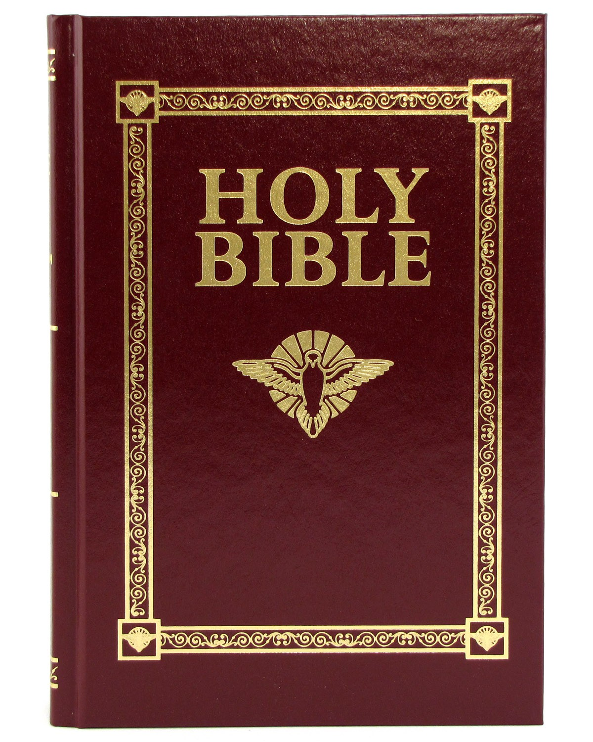 Holy Bible Confirmation Gift Edition. This hardbound, gold-embossed Douay-Rheims Bible features stories on the lives of