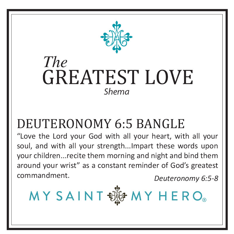 The Greatest Love Deuteronomy 6:5 Bangle – Silver