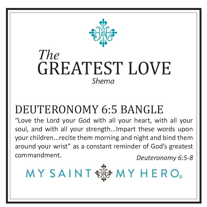 The Greatest Love Deuteronomy 6:5 Bangle – Silver