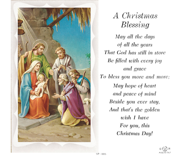 100 pack christmas blessing holy card with prayer - Christmas Blessing Prayer