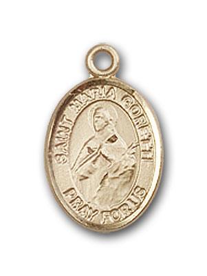 14K Gold St. Maria Goretti Medal at Catholic Shop