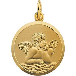 14k gold angel pendant at catholic shop 14k yellow gold angel pendant aloadofball Images