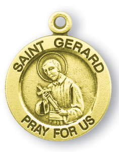 Catholic shop sells jewelry and patron saint medals and saint gerard gold over sterling silver round shaped st gerard medal aloadofball Image collections