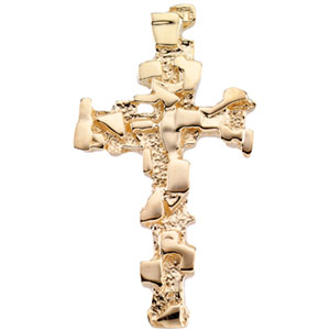 Catholic shop sells jewelry and 18k gold jewelry with free shipping 18k yellow cross pendant aloadofball Image collections